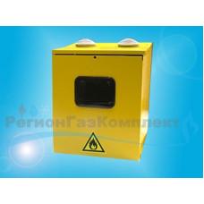Ящик для счетчика газа G-1.6, G-2.5, G-4 (110мм), ШГС-4-2 (225*270*185мм), рзборный, металл, желтый